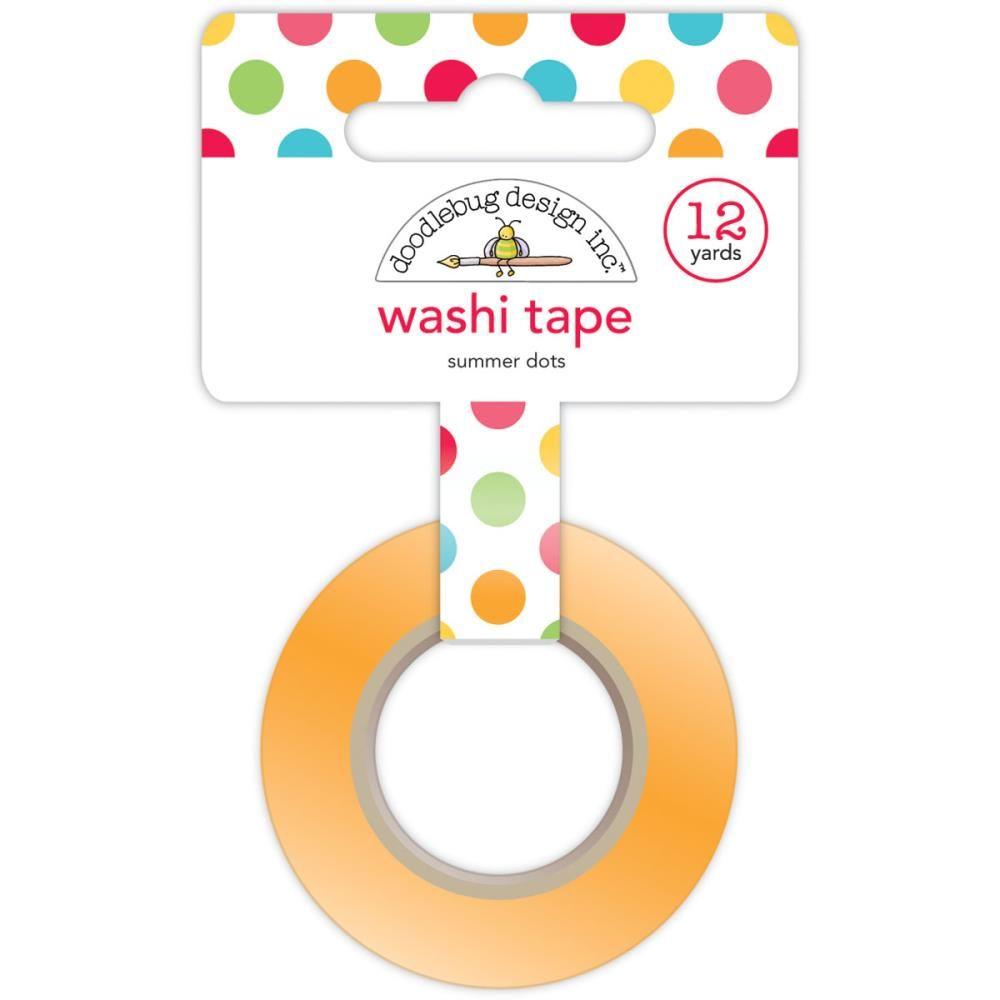 Doodlebug - Sunkissed - Washi Tape - Summer Dots