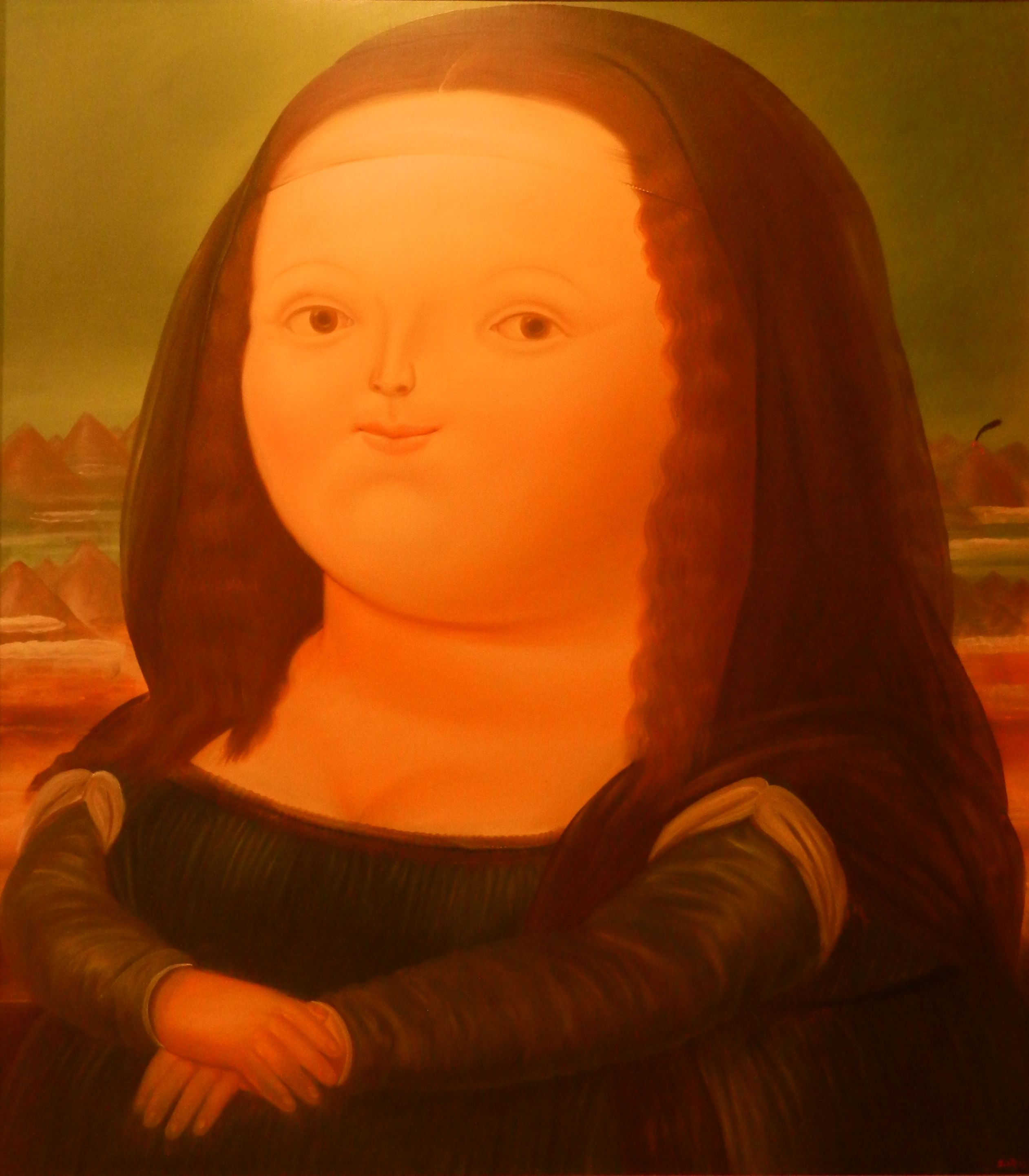 #Colombia Monalisa Colombian style by Fernando Botero, Museo Botero #Bogota @ AnnMertens