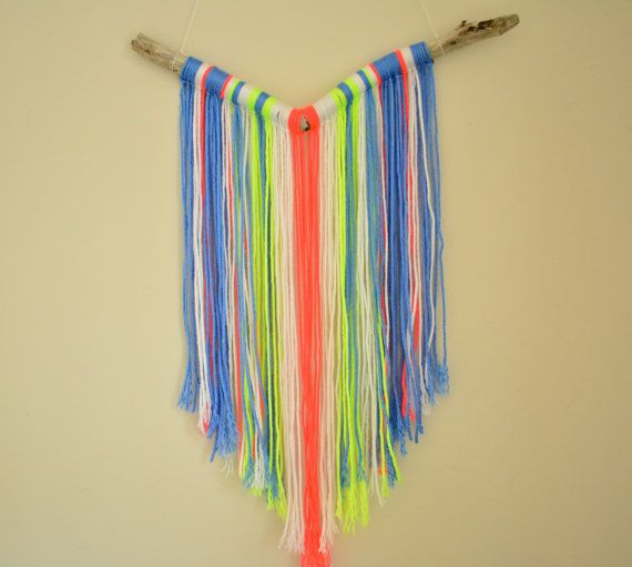 yarn wall hanging or mobile by bravelittledesigns on Etsy, $30.00 ...