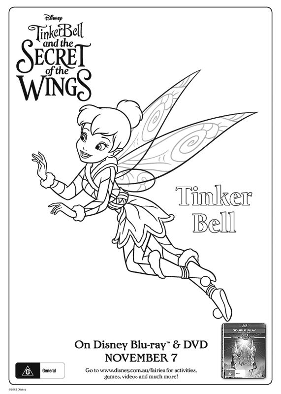 Free Online Disney Tinkerbell Colouring Page