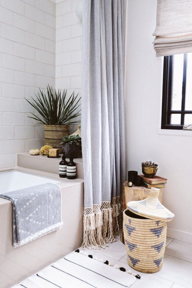DIY Extra Long Shower Curtain | Tall ceilings, Ceilings and Extra ...