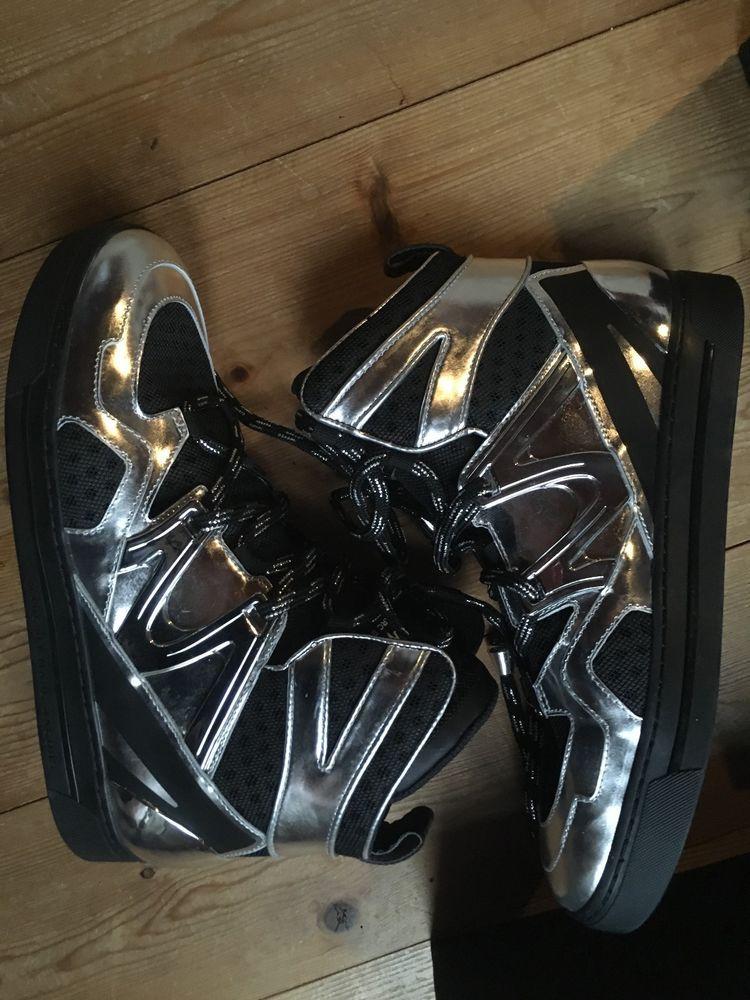 High Top Sneaker von Marc Jacobs schwarz silber Leder Texil