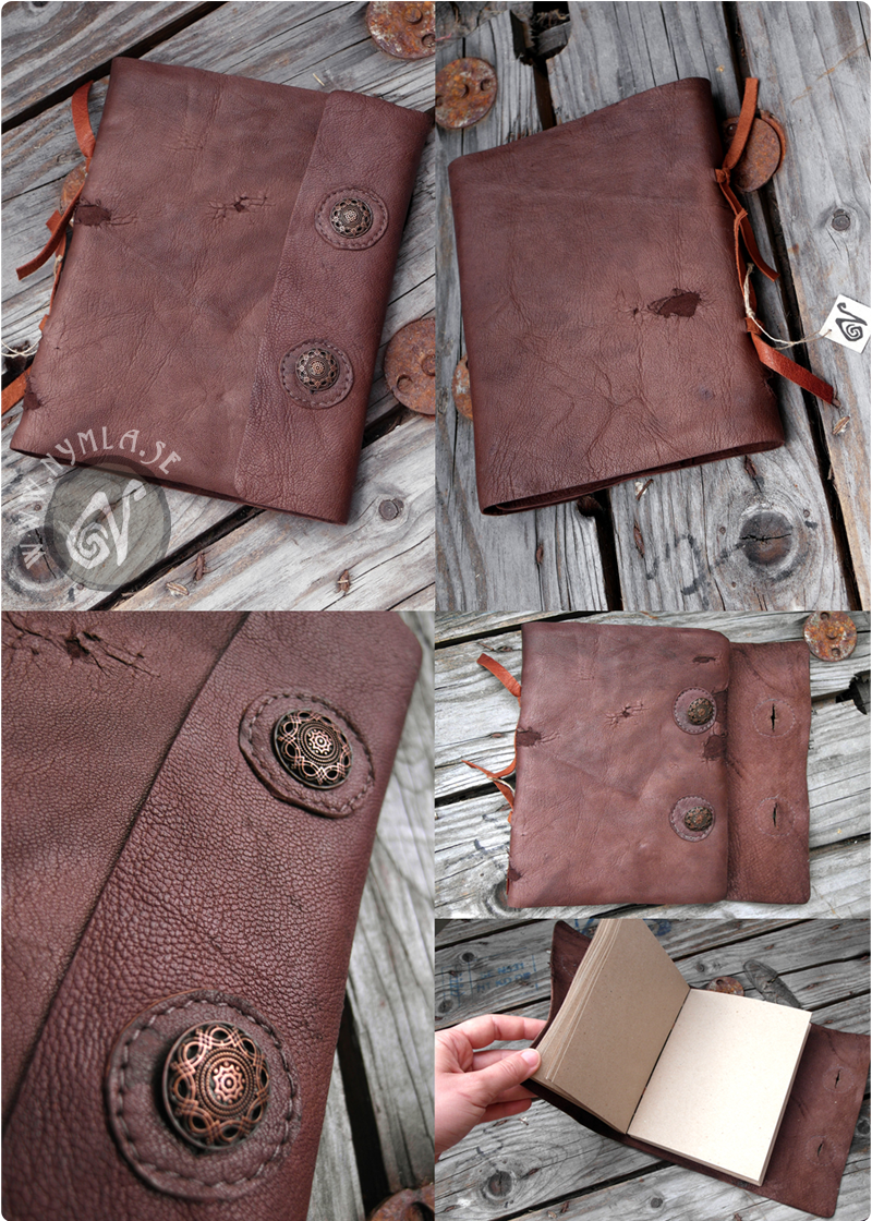 Leather Notebook (Available on Etsy) by Nymla.deviantart.com on @DeviantArt