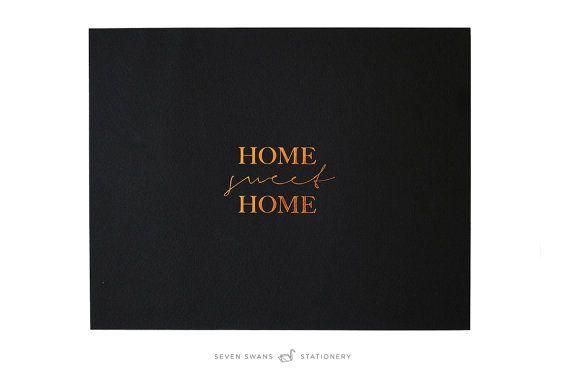 Home sweet Home Kupferfolie Kunstdruck von SevenSwansStationery