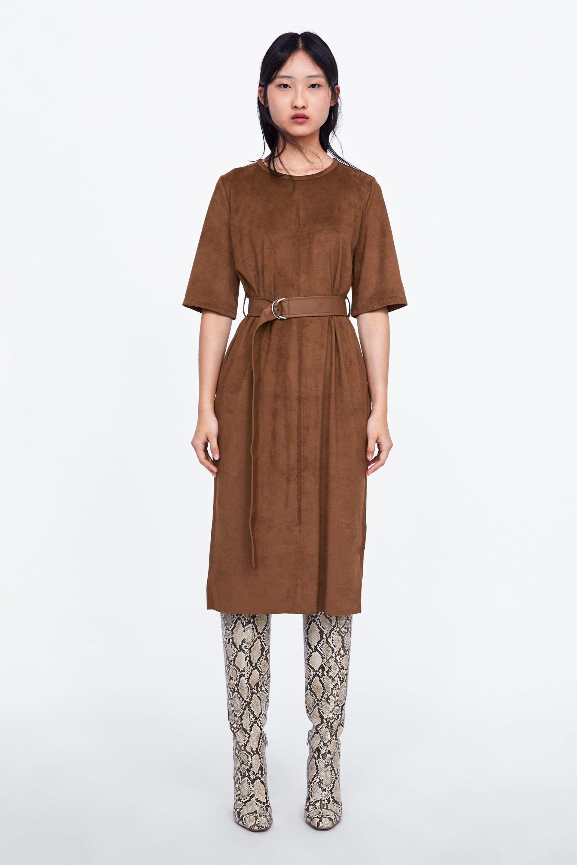 7c4da2782f1a VESTIDO EFECTO ANTE in 2019 | clothes | Dresses, Midi dress outfit ...