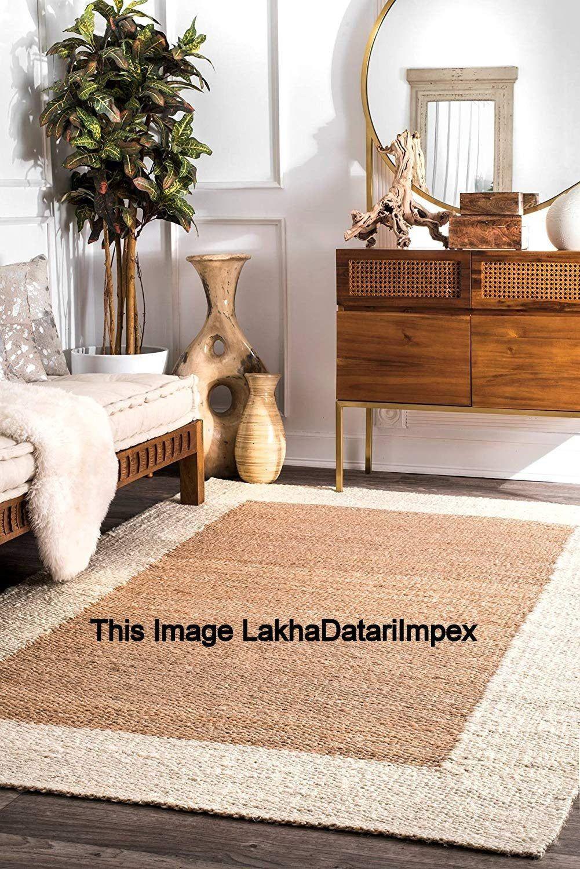 Braided indian jute floor rugs purely handmade natural
