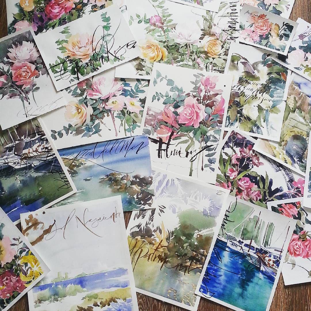 «Испанский урожай  С акварельными цветами можно самой решить когда закончится лето. Со своим летом я пока не намерена закругляться и приглашаю еще 2х…»