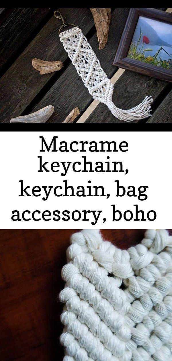 Macrame keychain, keychain, bag accessory, boho accessory, boho keychain, macram..., # check ... #curtainfringe