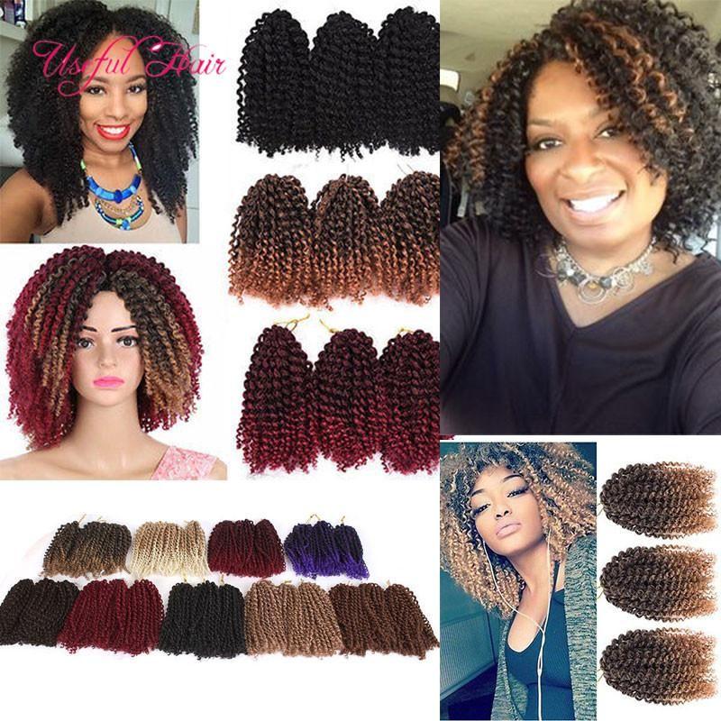 Mali Bob Ombre Kanekalon Crochet Braiding Hair Jamaican Bounce