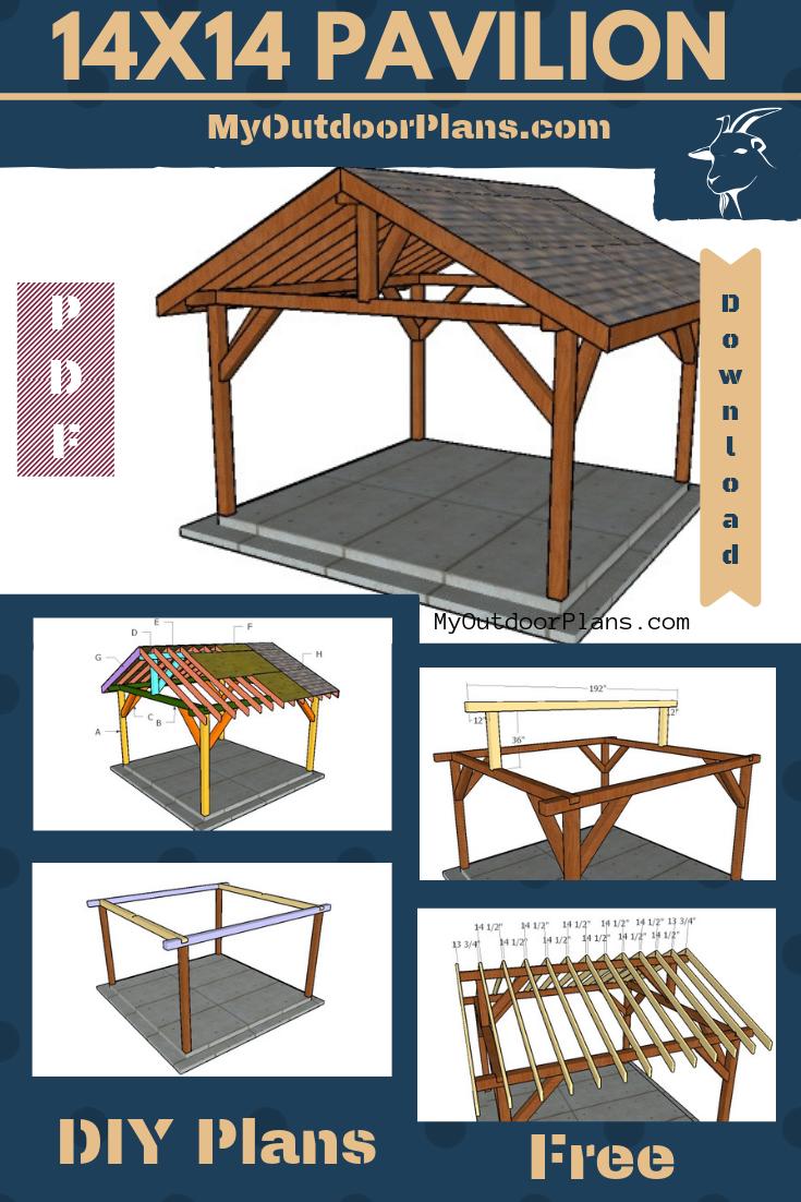 14×14 Outdoor Pavilion Plans | Outdoor pavilion, Pavilion ...