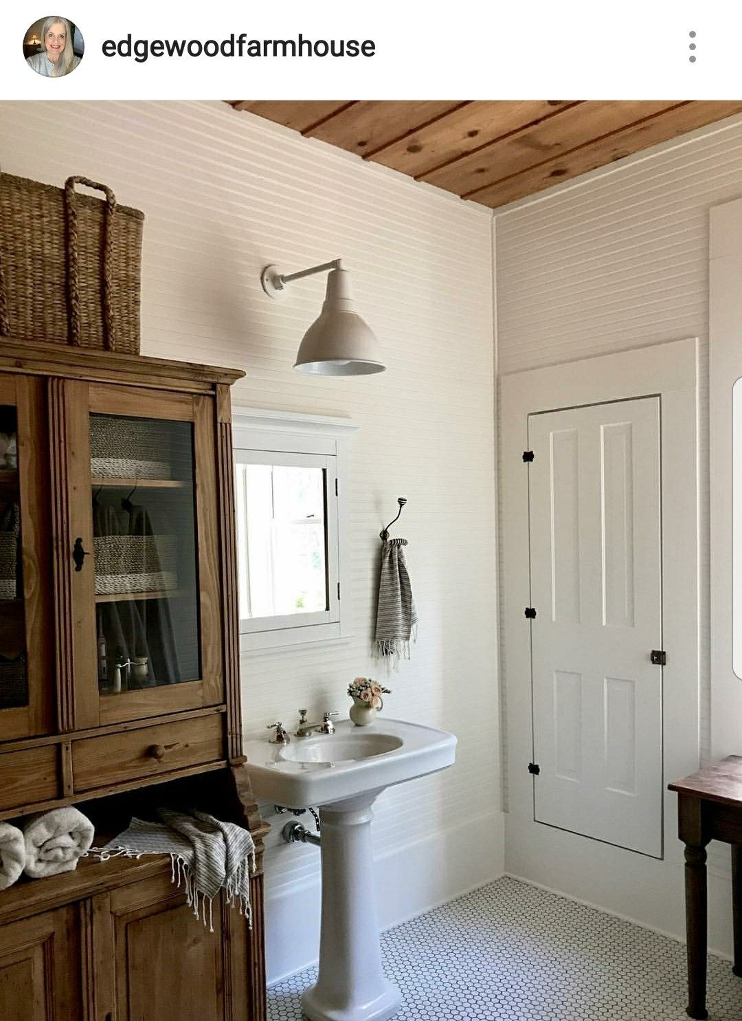 Love this built in linen closet and hardware | Bedroom Bathroom Reno ...