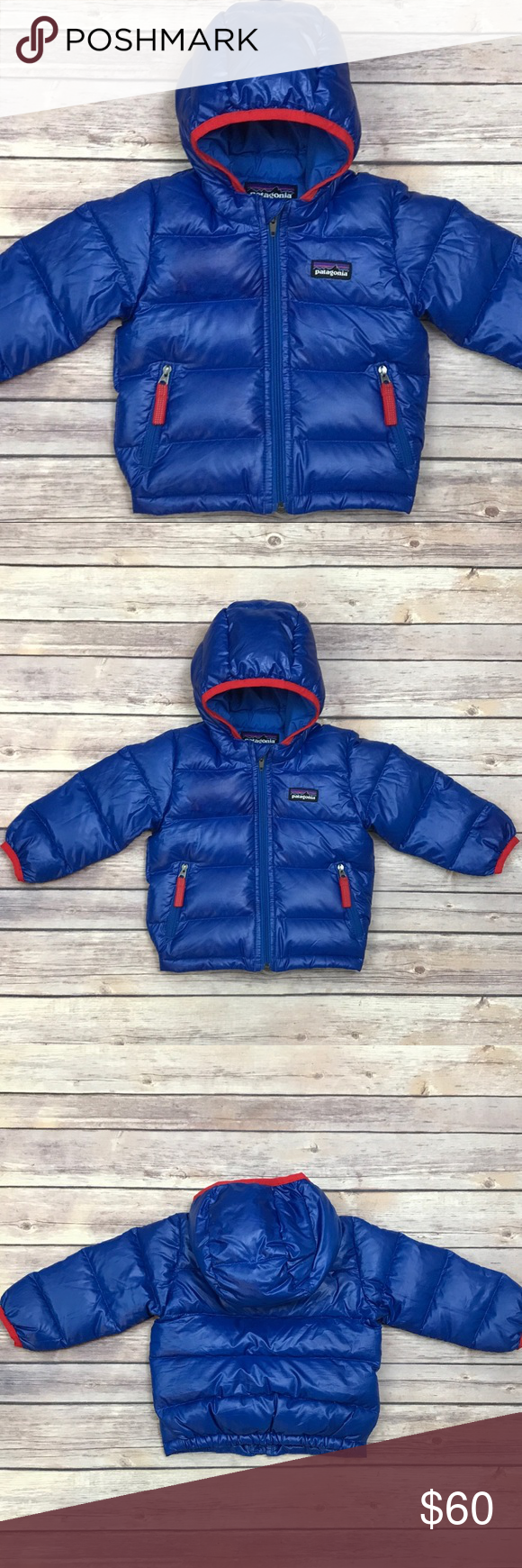 Patagonia Baby HiLoft Down Puffer Jacket Blue Baby