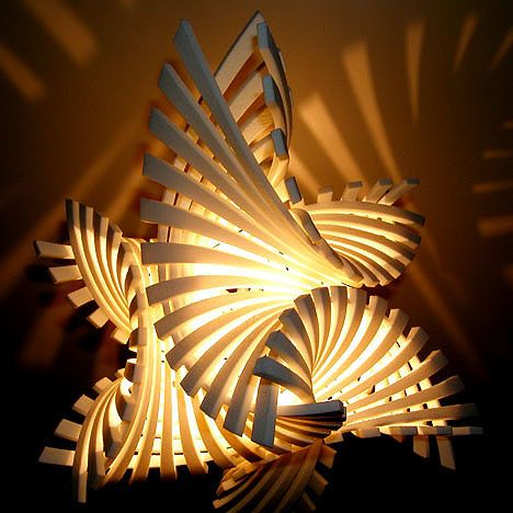 Flame.MGX Lamp designed by Bathsheba Grossman