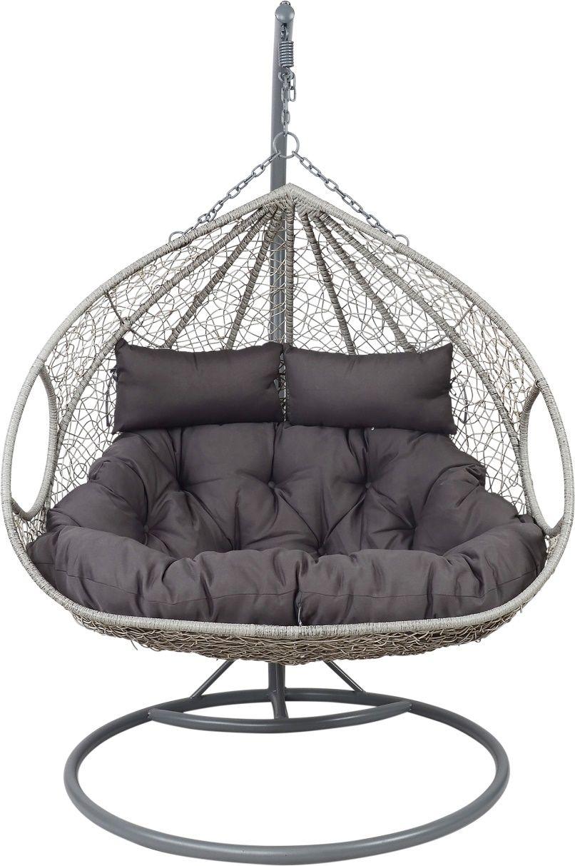 cooler geflecht korb h ngesitz mit gestell f r 1 2. Black Bedroom Furniture Sets. Home Design Ideas