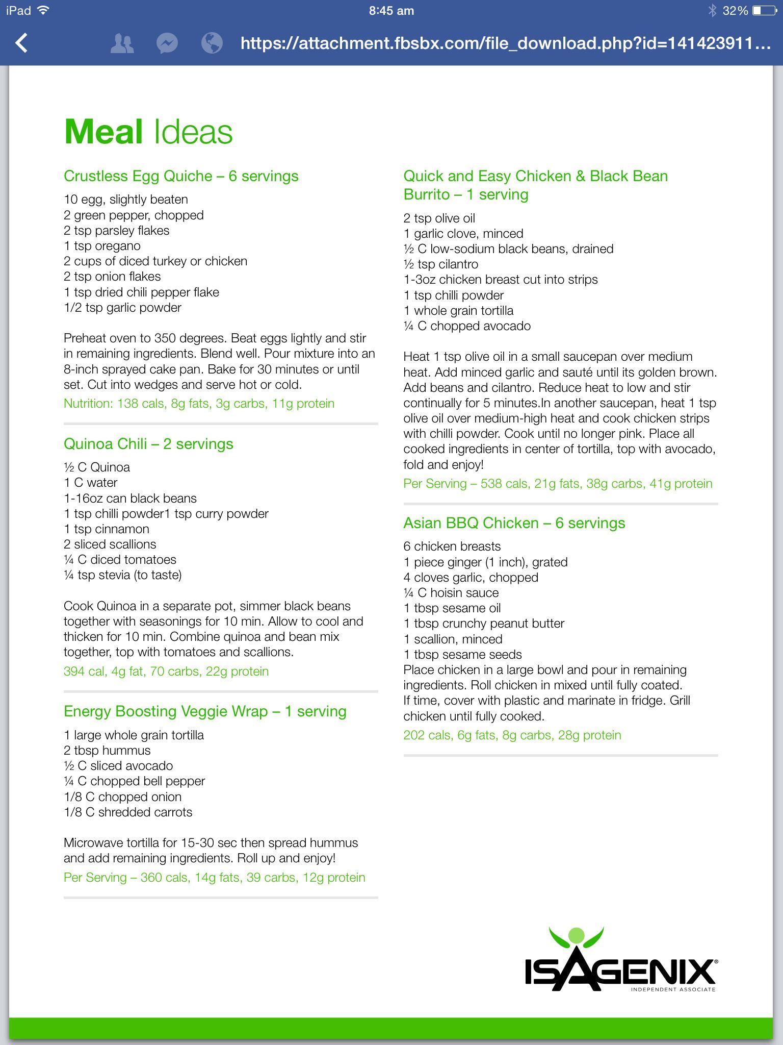 isagenix diet plan pdf