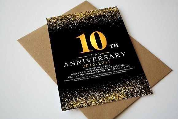 Anniversary InvitationRsvp Template By Business Templates On