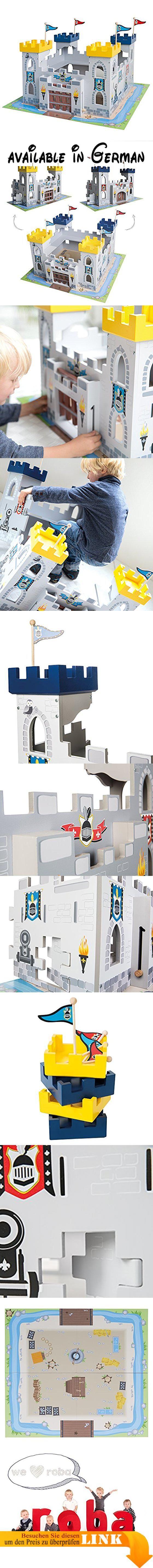 roba Ritterburg \'3-in-1\', Holz Burg Set, 2 Burgen steckbar zu einem ...
