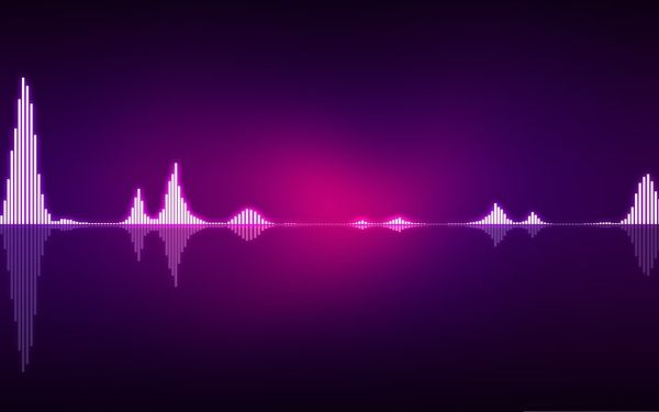 music waves equalizer purple background Wallpaper   Music ...