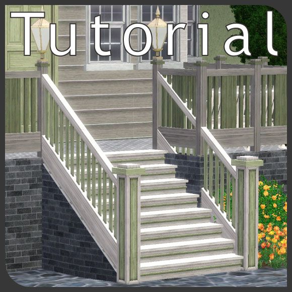 Sims 3 Tutorial Outside stairs with wall under them Gaming - new sims 3 blueprint mode