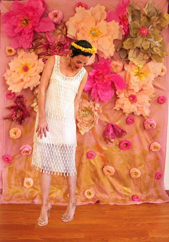 Huge Tissue Paper Flower Wall Diy Wedding Photo Booth Diy