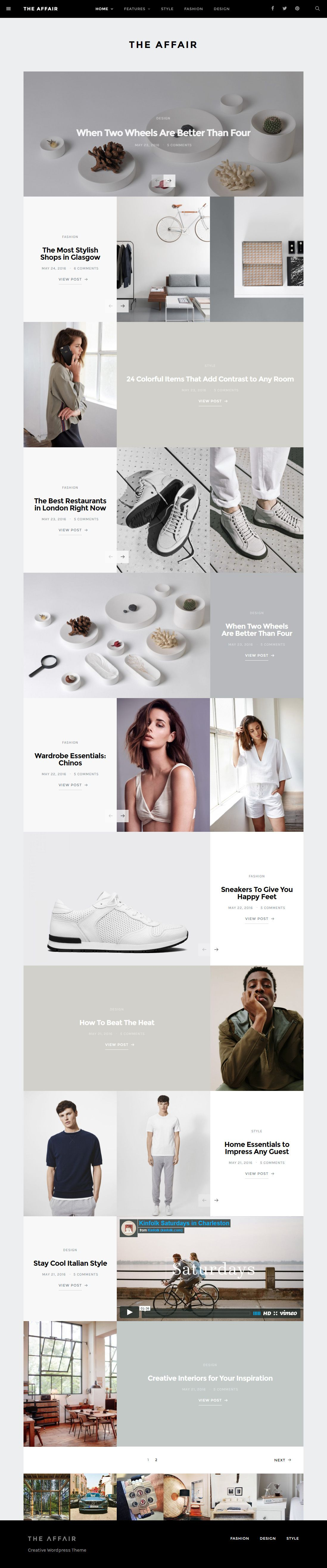 The Affair - Creative Theme for Personal Blogs and Magazines ...