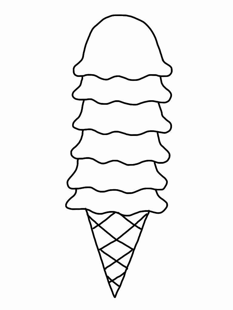 Icecream Cone Coloring Page Inspirational Free Ice Cream Cone