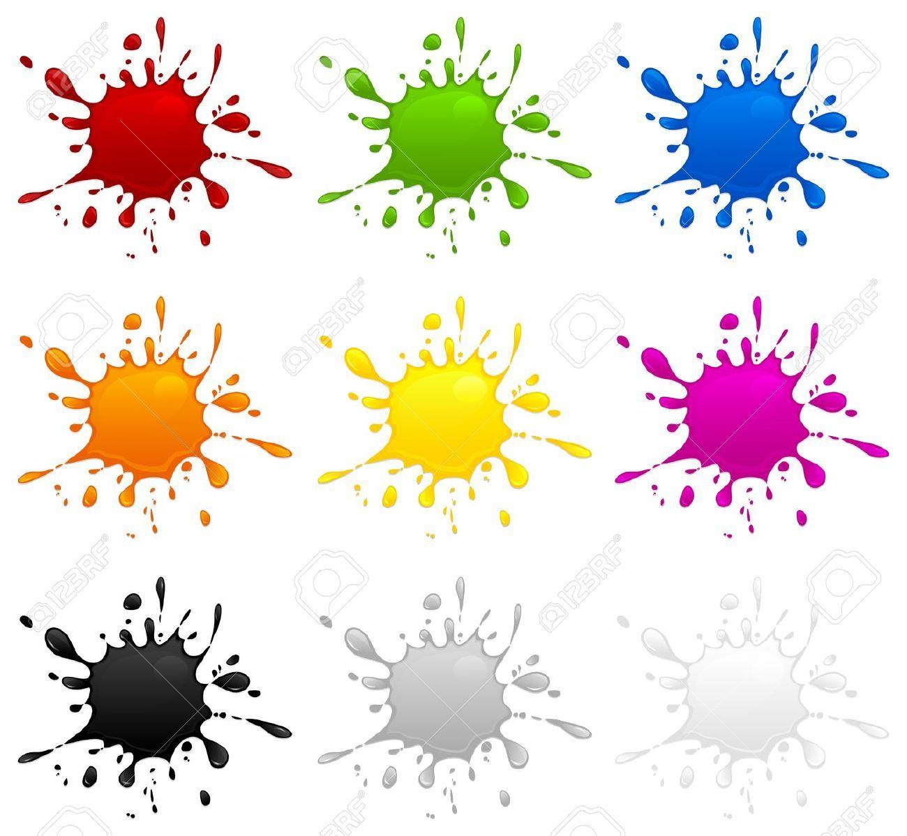 Manchas De Colores Manchas De Tinta Salpicadura De Acuarela Manchas De Colores