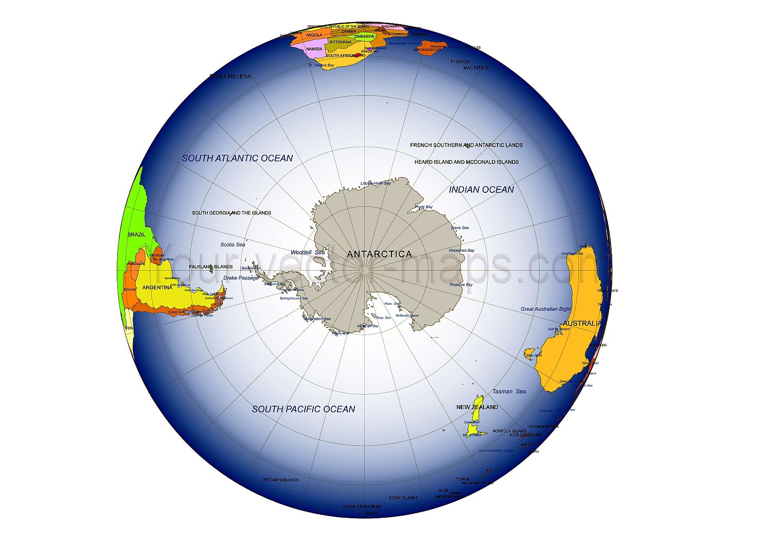 South pole on globe map antarctica fosused on globe map colored south pole on globe map antarctica fosused on globe map colored weddel sea gumiabroncs Image collections