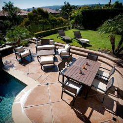 Rst Outdoor Zen 14 Piece Sanctuary Seating And Patio Dining Set