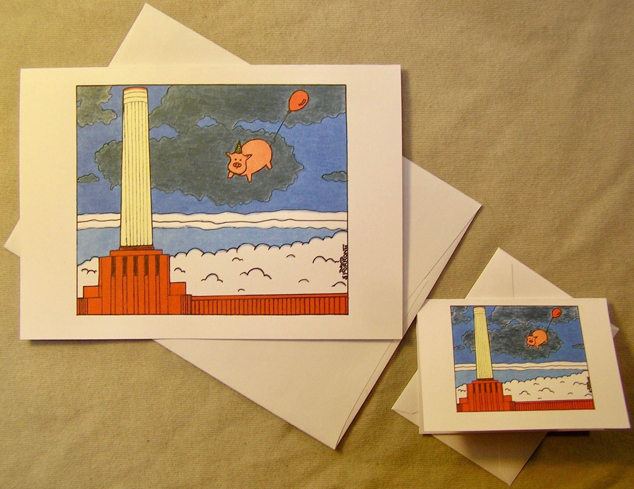 Pink Floyd Birthday Card Animals Regular Size Card And Mini Version
