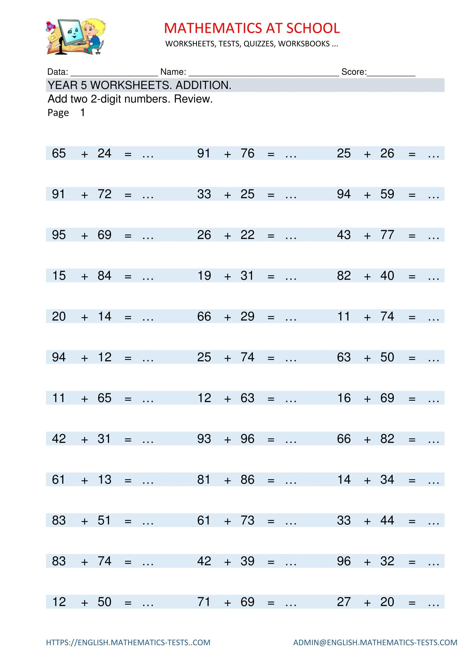 Maths multiplication worksheets year 2