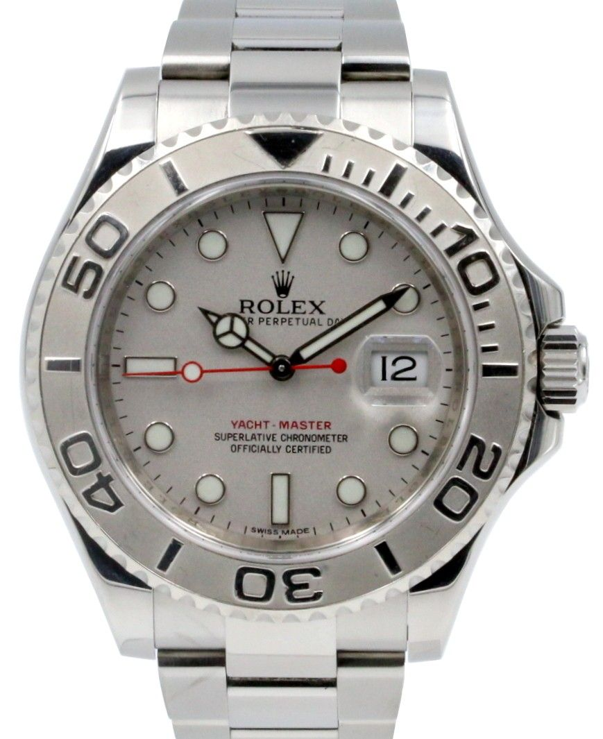 81b952d7a08 Rolex Yacht-Master 116622 Men s 40mm Platinum Stainless Steel Oyster Date…