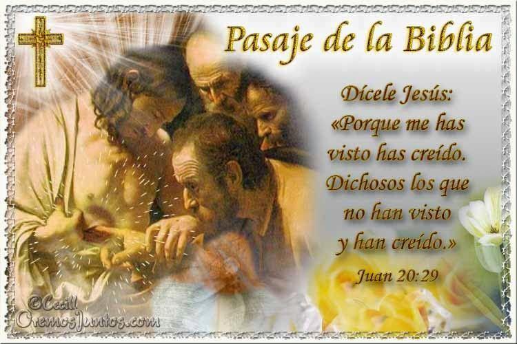 Vidas Santas: Santo Evangelio según san Juan 20:29