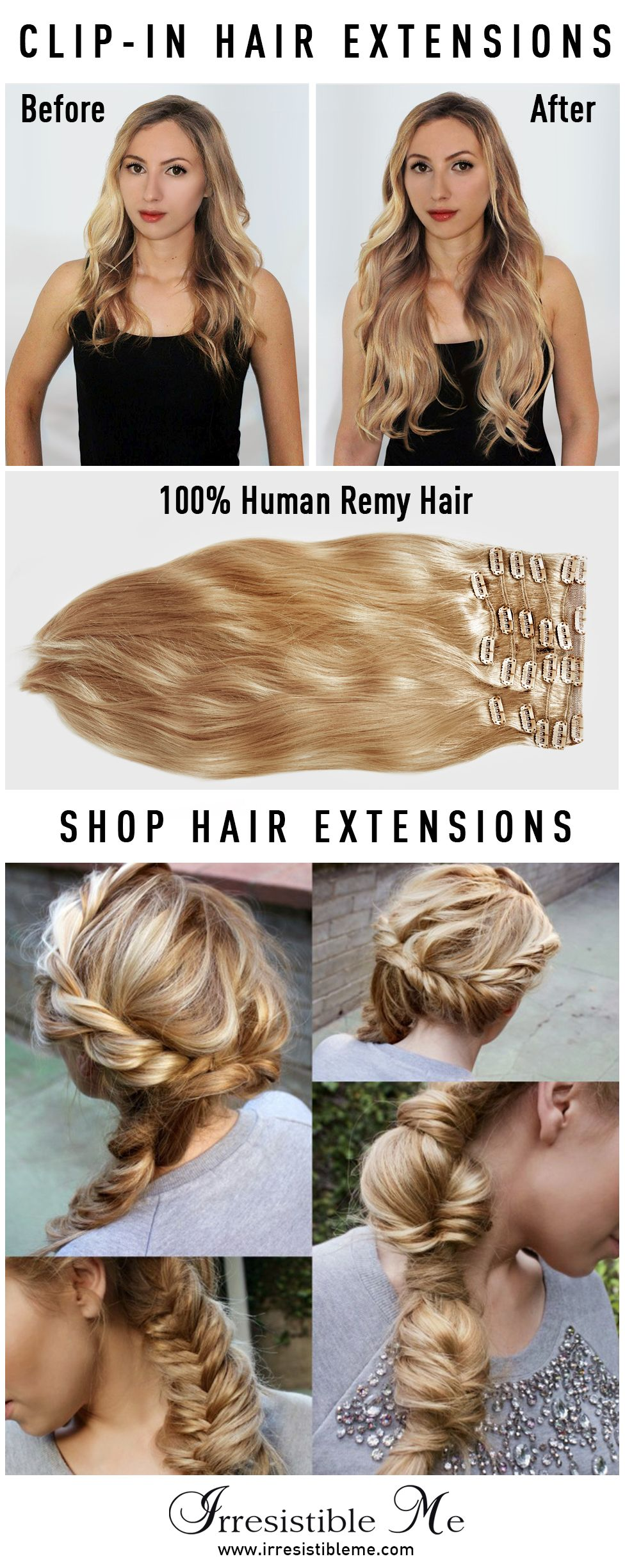 The Perfect Day Starts With Cute Hair Try A Dramatic Hairstyle Change With Irresistible Me 100 Hu Clip In Hair Extensions Hair Extensions Beautiful Long Hair