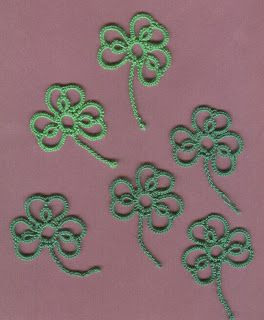 25 Motif Challenge: Shamrock, Necklaces, Wreath, Gloves, Bookmarks, Heart, Motifs, Butterflies, Doilies, Ornaments, Hairclips, Snowflakes and Pendants