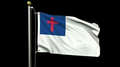 May It Ever Wave Christian Flag God Bless America Christianity