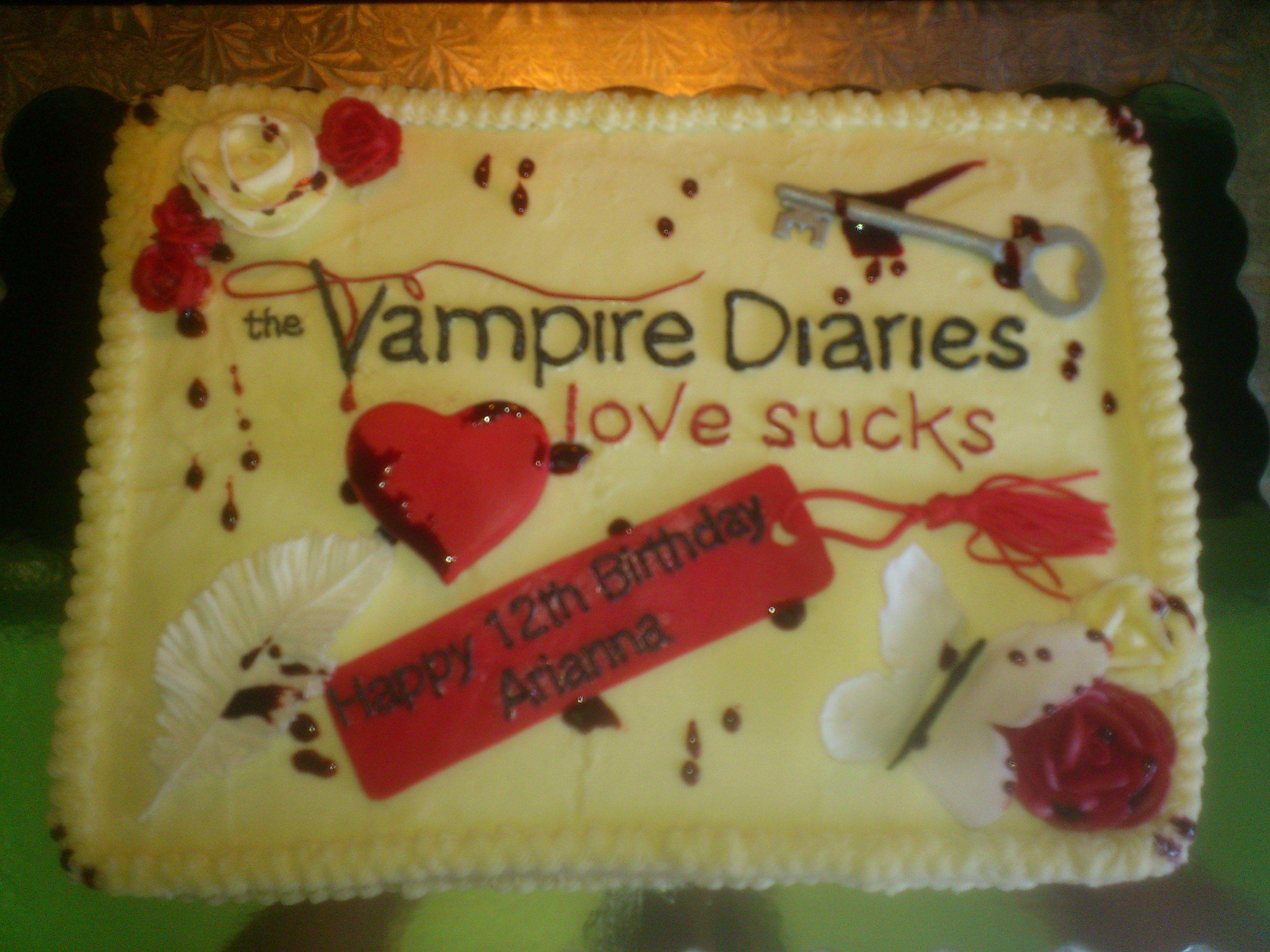 Vampire Diaries Birthday Cake Daily Inspiration Pinterest
