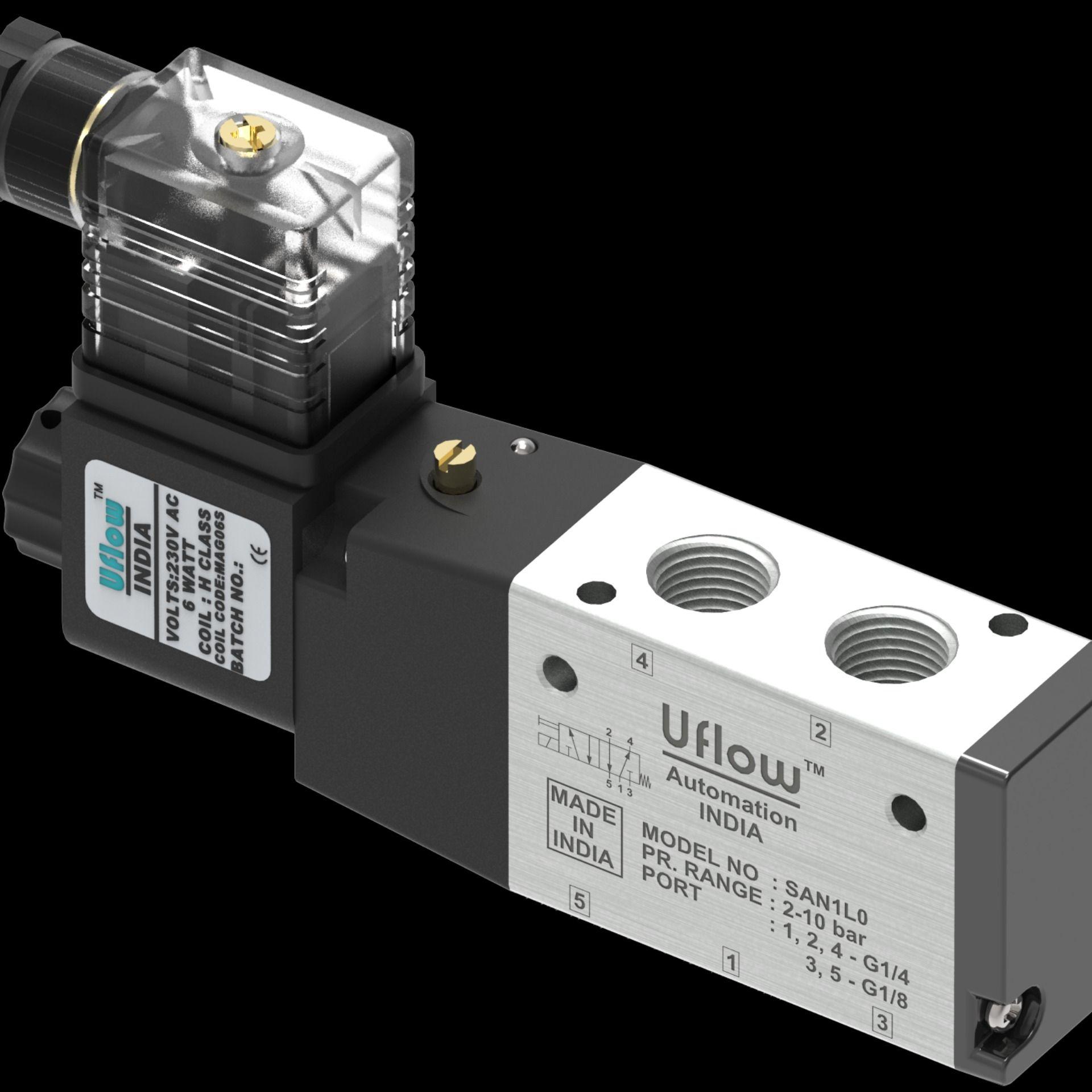 Solenoid Valves Valve, Control valves, Compressed air
