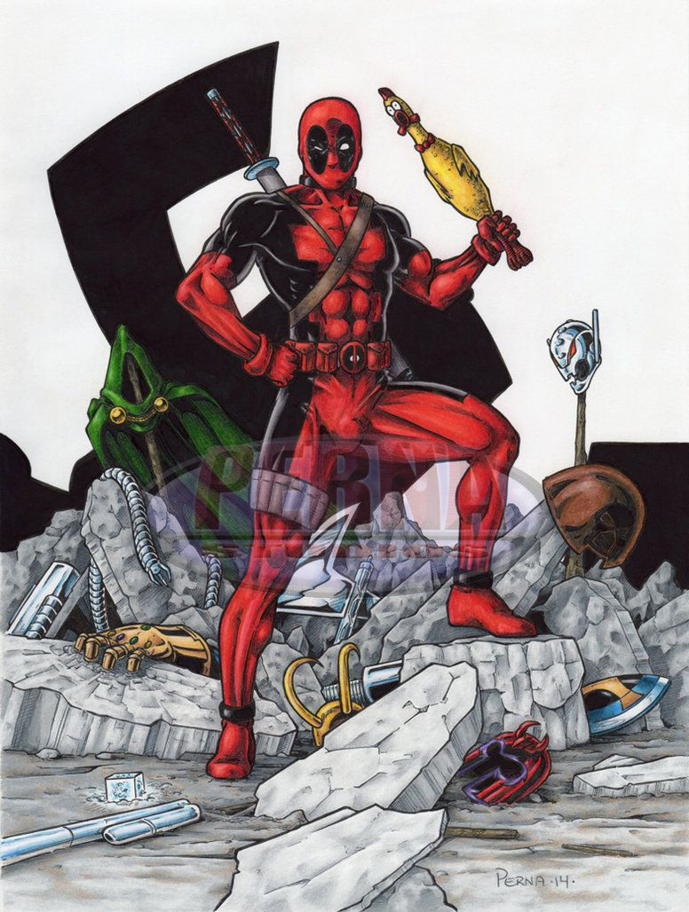 #Deadpool #Fan #Art. (Deadpool Vs the Marvel Universe) By: Tonyperna. ÅWESOMENESS!!!™ ÅÅÅ+