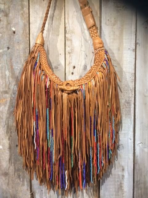 Fringe Leather Shoulder Bag in multiple colors at Boots by M. A real eye catcher!