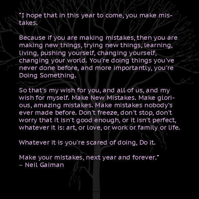 Neil Gaiman New Year Quotes: A New Year's Message