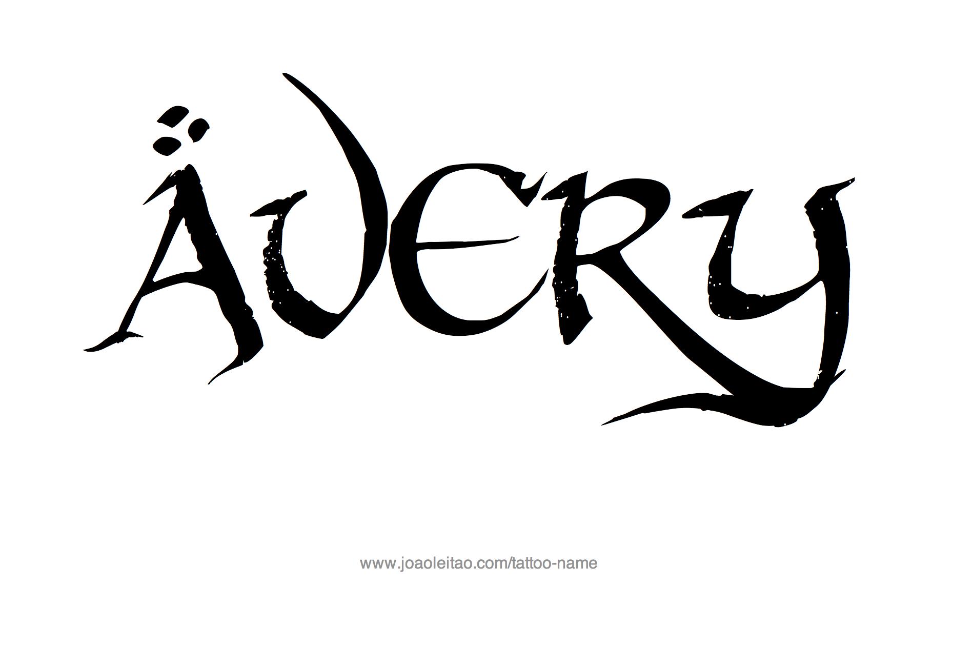 avery name tattoo designs tats pinterest tattoos tattoo