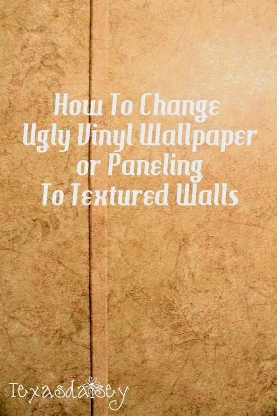 How to change ugly vinyl wallpaper or paneling to textured How to cover old wood paneling