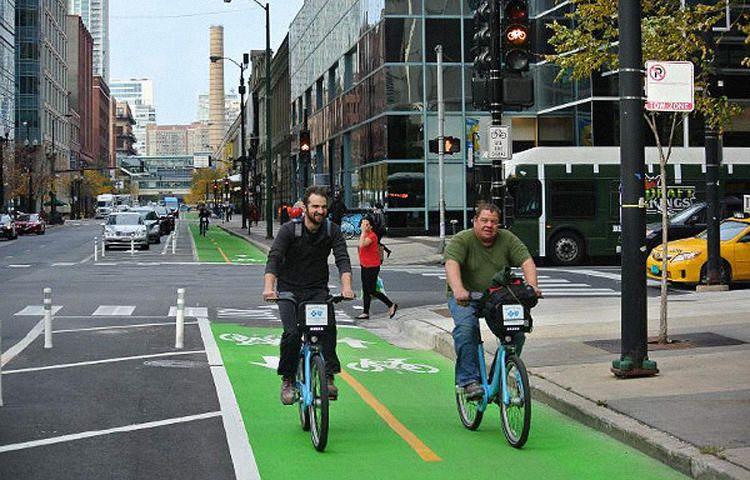 Take A Ride On The Best Bike Lanes Of 2015 Bike Lane Cool Bikes