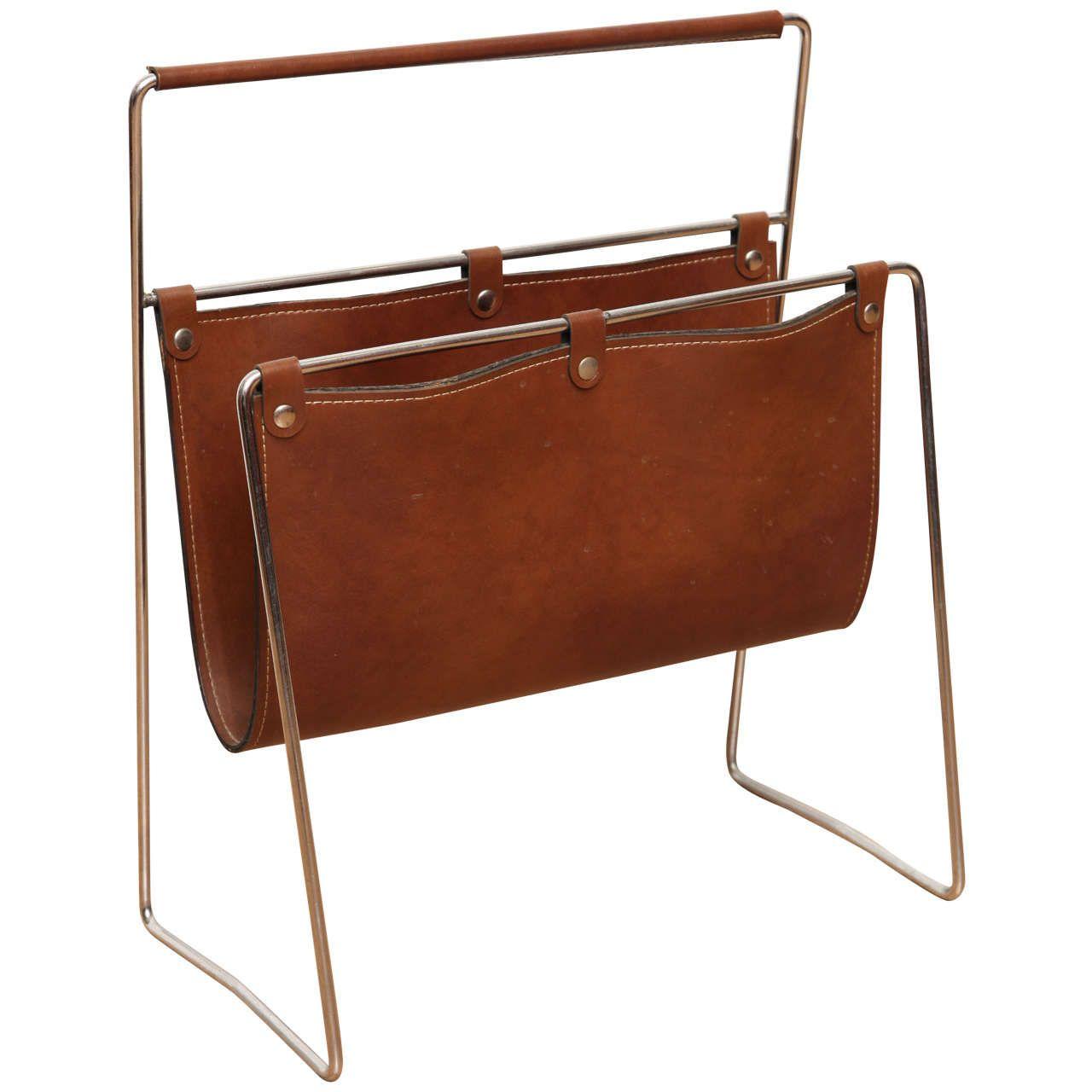 Midcentury Leather Magazine Holder   Objects of desire ...