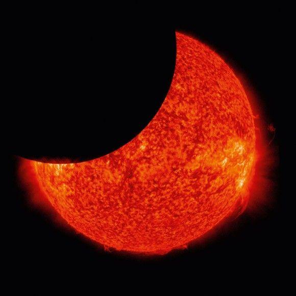 Partial Solar Eclipse Taken From NASAs Solar Power Observatory On - 30 amazing photos ever taken nasa