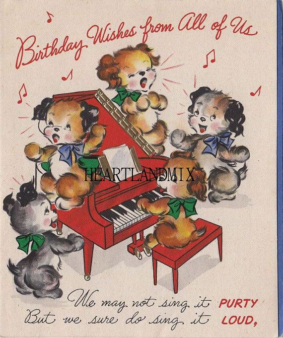 Vintage Happy Birthday From All Of US Greeting Card Image Download