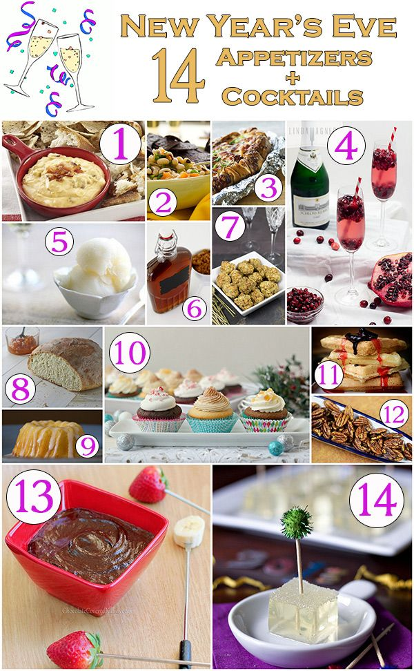 14 Appetizers And Cocktails For New Year S Eve Pinterest Fun