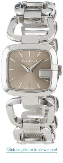 39c4d1276a2 Gucci Women s YA125507 G-Gucci Small Brown Dial Steel Bracelet Watch  Gucci   Womens  YA125507  G-Gucci  Small  Brown  Dial  Steel  Bracelet  Watch