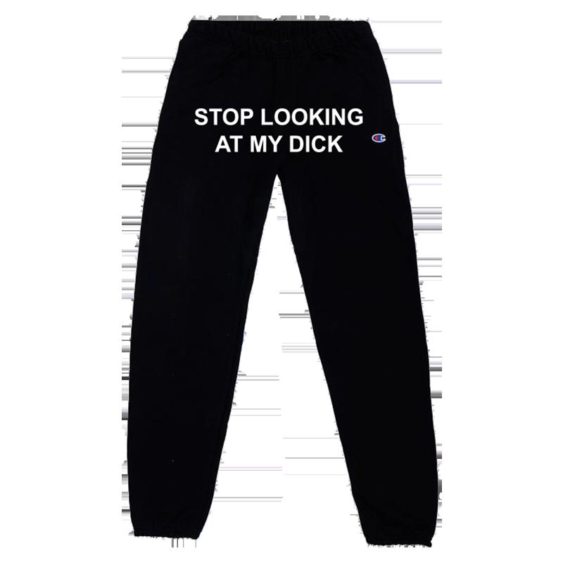 Grey sweatpants dick